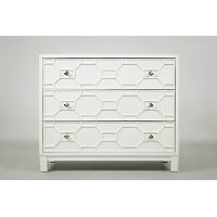 White 3 Drawer Accent Chest - Matrix