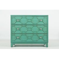 Turquoise 3 Drawer Accent Chest - Matrix