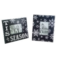 Assorted Black and White Snowflake Picture Frame