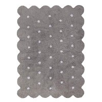 C-77775 4 x 5 Small Biscuit Gray Washable Rug