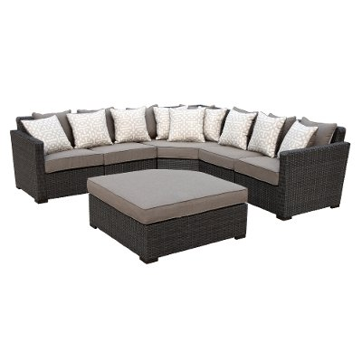 5 Piece Outdoor Patio Sectional Sofa Veranda RC Willey