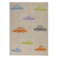 C-COCH-M 4 x 5 Small Beige Cars Area Rug