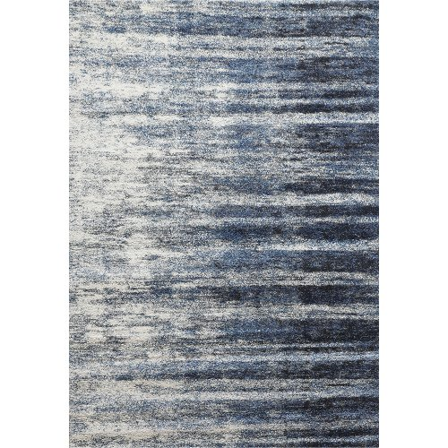 8 x 11 Large Ivory, Gray, and Blue Rug - Granada