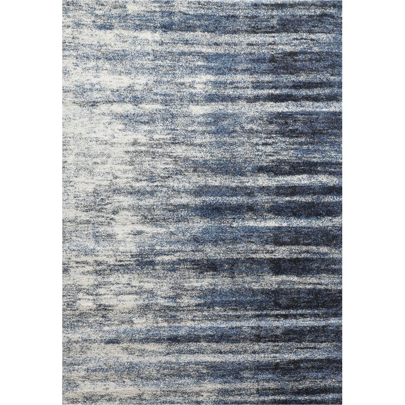 8 X 11 Large Ivory Gray And Blue Rug Granada
