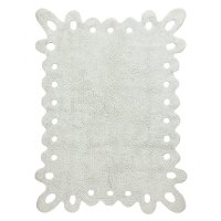 C-00000 4 x 5 Small Lace Light Mint Ice Washable Rug