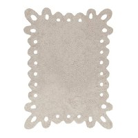 C-00008 4 x 5 Small Lace Beige Washable Rug