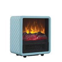 Portable Metal Heater - Light Blue