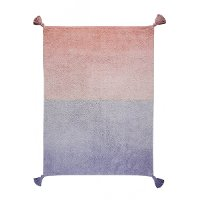 C-DE-PL 4 x 5 Small Ombre Coral Pink and Lavender Washable Rug
