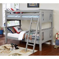 Classic Gray Twin-over-Twin Bunk Bed - Spring Creek