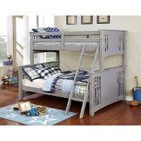 Classic Gray Twin-over-Full Bunk Bed - Spring Creek