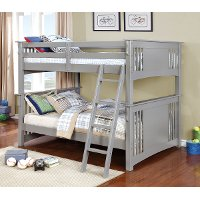 Classic Gray Full-over-Full Bunk Bed - Spring Creek
