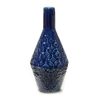 12 Inch Blue Bottle Vase