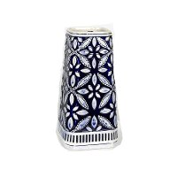 13 Inch Blue and White Vase