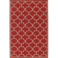 5 x 8 Medium Red Indoor-Outdoor Rug