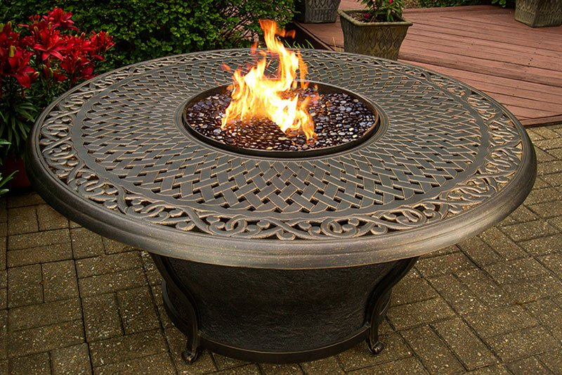 Outdoor Patio Fire Pit   Charleston