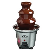 Nostalgia 3-Tier Stainless Steel Chocolate Fondue Fountain