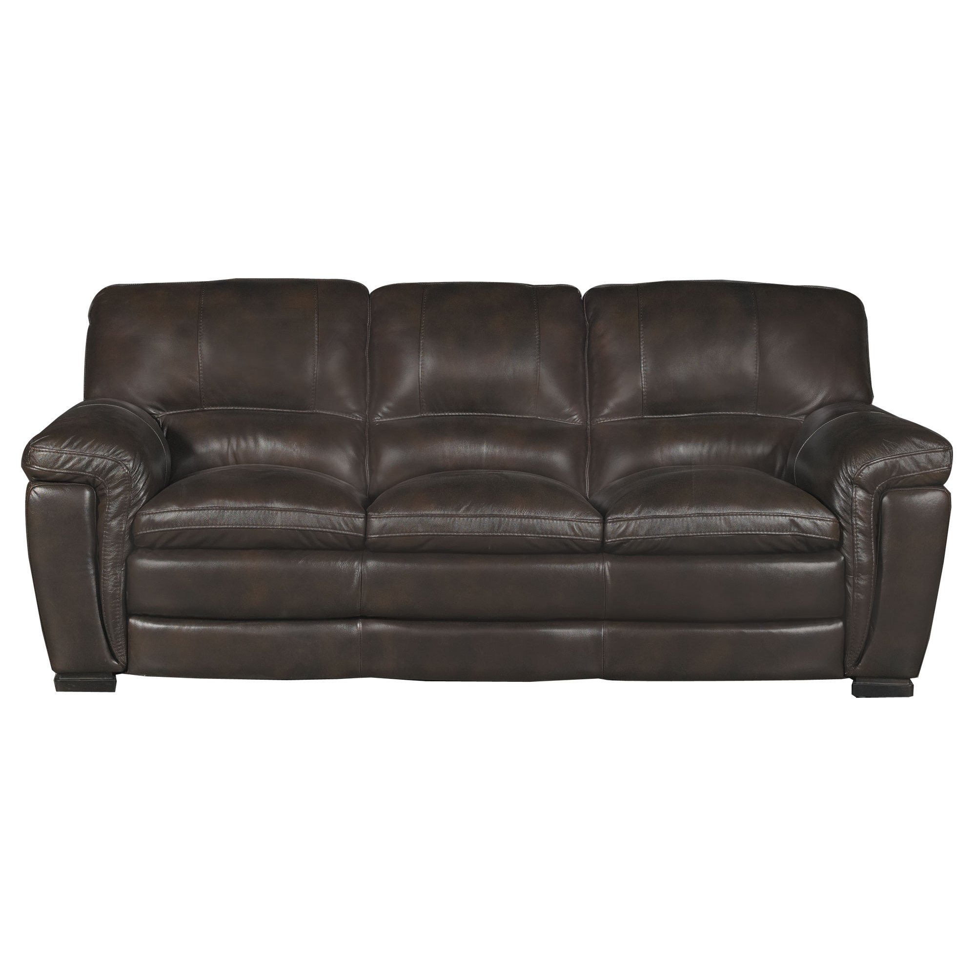 Casual Contemporary Brown Leather Sofa   Tanner | RC Willey Furniture Store