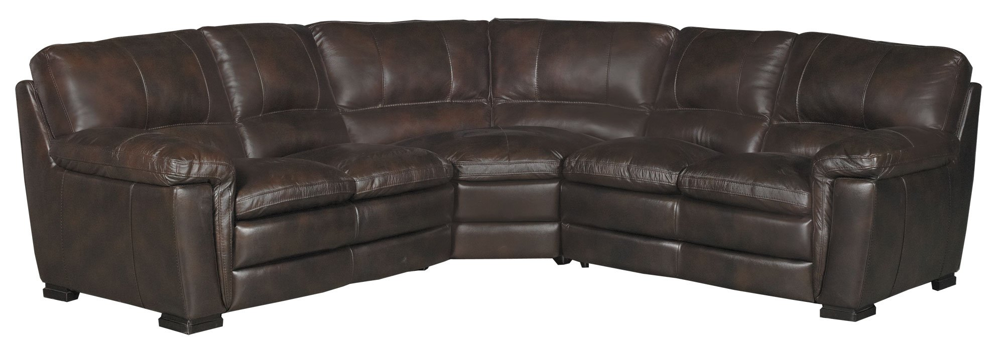 Casual Contemporary 3-Piece Brown Leather Sectional - Tanner  sc 1 st  RC Willey : rc willey sectional - Sectionals, Sofas & Couches