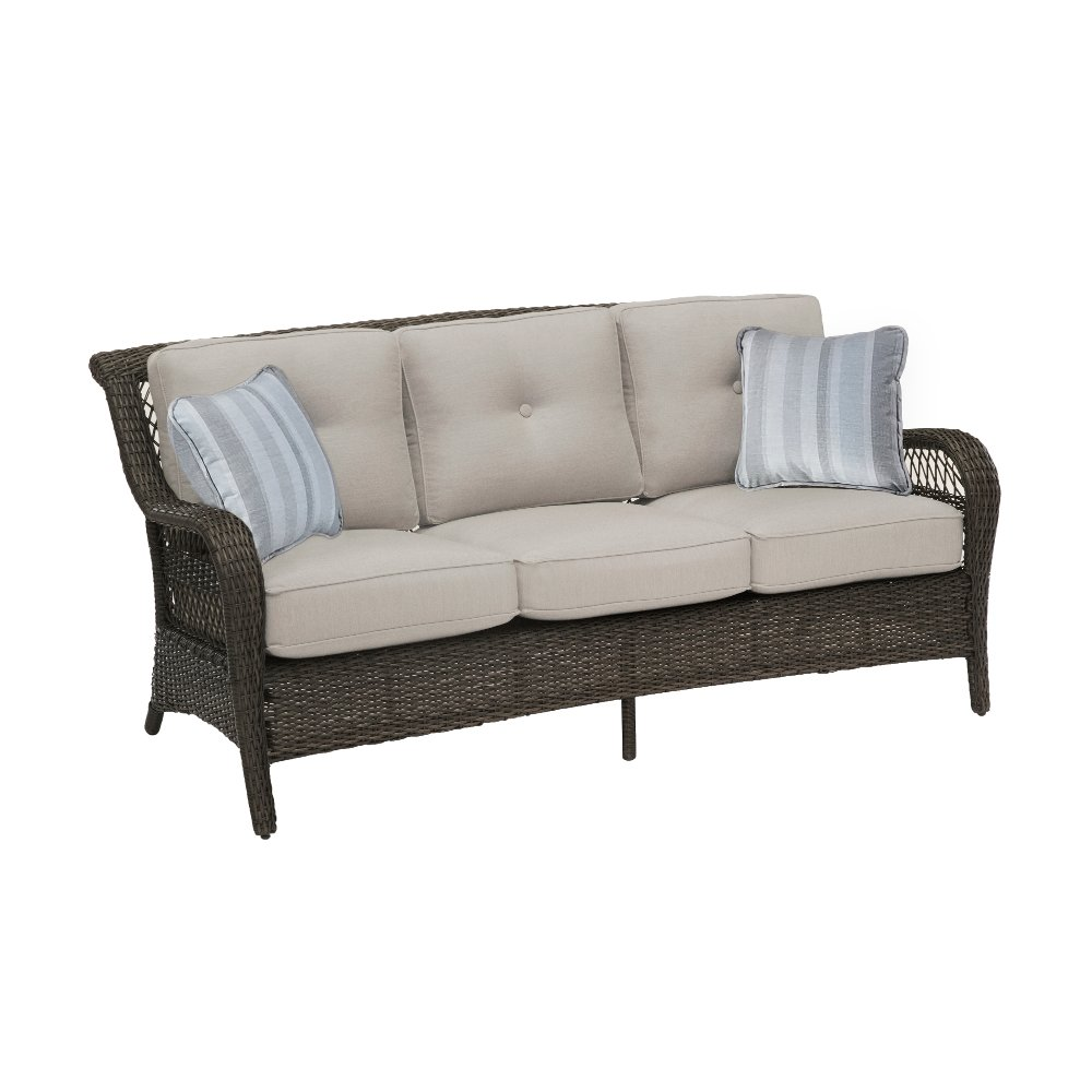Outdoor patio sofa patio furniture the home depot thesofa for Sofa table rc willey