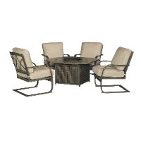 5 Piece Patio Fire Pit Set - Davenport