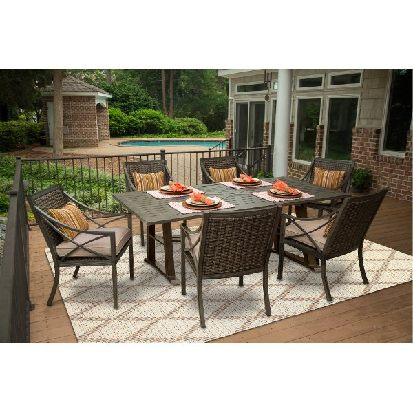 Captivating ... Davenport Collection 5 Piece Patio Dining Table Set ...