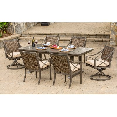 Davenport Collection 7 Piece Outdoor Patio Dining Set