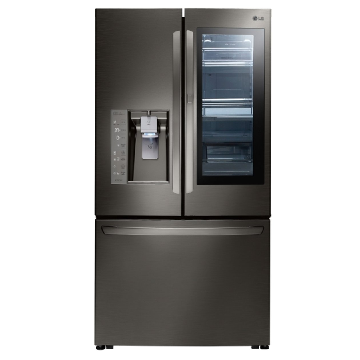 Beau LG InstaView French Door Refrigerator   36 Inch Black Stainless Steel | RC  Willey Furniture Store