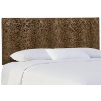 282NB-BRCHTERT Cheetah Upholstered Queen Size Headboard
