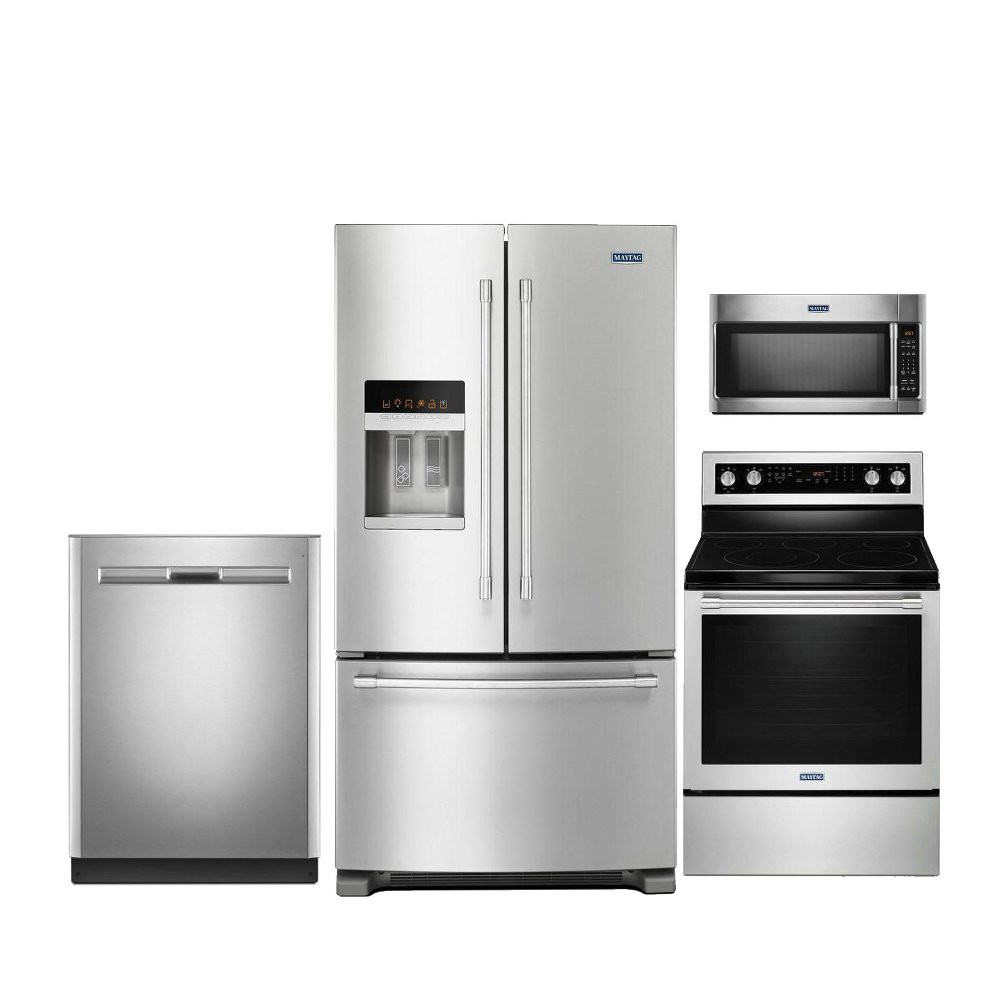 Maytag 4 Piece Kitchen Appliance Package with Electric Range | RC ...