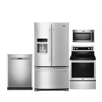 KIT Maytag 4 Piece Kitchen Appliance Package with Electric Range