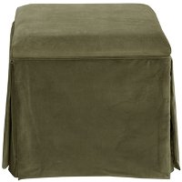 37-2SKRGLMS Regal Moss Skirted Storage Ottoman