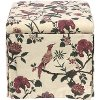 37-2SKSHNHLDRD Shaana Holiday Red Skirted Storage Ottoman