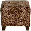 57-2NB-BRCHTERT Cheetah Earth Nail Button Square Ottoman