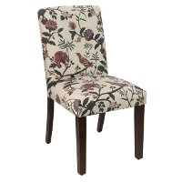 63 6SHNHLDRD Shaana Holiday Red Upholstered Dining Chair Free Shipping