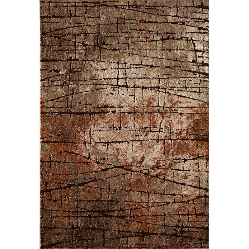 8 X 10 Large Brown And Rust Area Rug Rainier