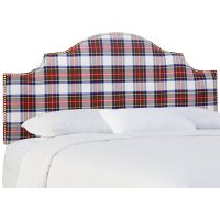 830NB-GDSTWDRSMLT Stewart Plaid Arch Upholstered Twin Headboard