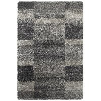 5 x 8 Medium Gray and Charcoal Area Rug - Henderson