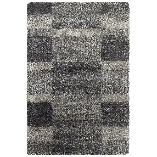 5 X 8 Medium Gray And Charcoal Area Rug Henderson