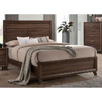 Brown Modern Contemporary King Bed - Darryl
