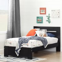 10261 Black Twin Bed (39 Inch) - Reevo