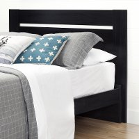 10263 Black Full/Queen Headboard (54/60 Inch) - Reevo