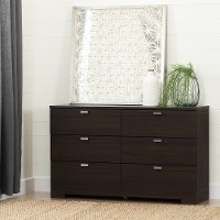 10264 Matte Brown 6-Drawer Double Dresser - Reevo