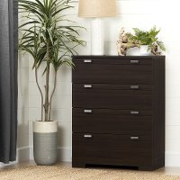 10265 Matte Brown 4-Drawer Chest - Reevo