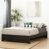 10267 Matte Brown Queen Platform Bed (60 Inch) - Reevo