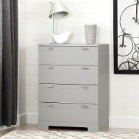 10270 Soft Gray 4-Drawer Chest - Reevo