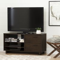 10286 Modern Brown Oak TV Stand for TVs up to 55 Inch - Fynn