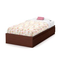 10577 Cherry Twin Mates Bed with 3 Drawers (39 Inch)  - Summer Breeze