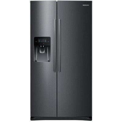 RS25J500DSG Samsung Side-by-Side Refrigerator - 36 Inch Black Stainless Steel