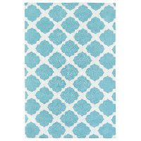 4 x 6 Small Ivory and Turquoise Blue Rug - Lily & Liam