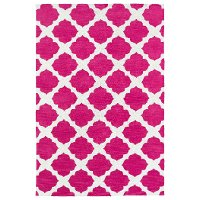5 x 7 Medium Pink and Ivory Area Rug - Lily & Liam